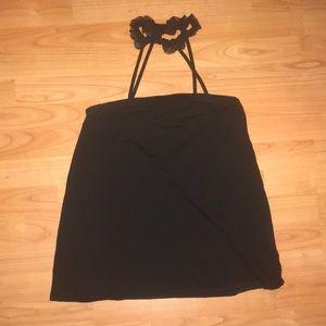 Asos Black Maternity Shirt W/ ruffle collar Sz 8